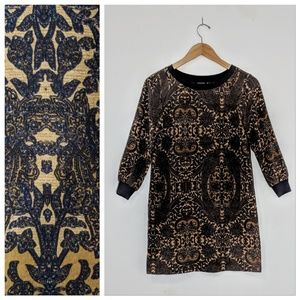 Club Monaco Silk Paisley T-Shirt Dress